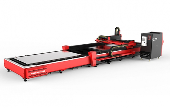 Open Fiber Laser Cutter with Automatic Pallet Changer No