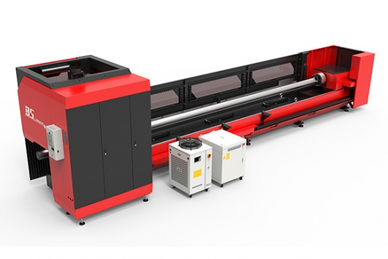 Big metal tube laser cutting machine