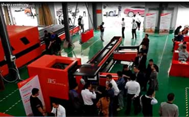Baisheng Laser Machine Big processing shop opening ceremony