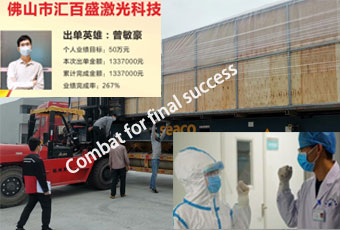 Baisheng Laser overcoming the impact of  coronavirus disease with much orders and safe production