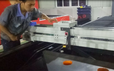 Laser Machine Guideway Calibration by Baisheng Engineer in Workshop