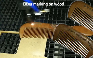 Co2 Laser Marking engraving on Wood Comb