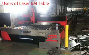 Metal Laser Cutting Machine with 6000*2000mm Worktable