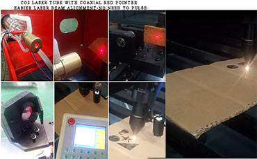 Fast ,easier laser beam alignment,  preview and positioning with Red Pointer integrated in tube